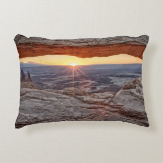 Sunrise at Mesa Arch, Canyonlands National Park Accent Pillow
