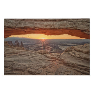 Sunrise at Mesa Arch, Canyonlands National Park Wood Canvases