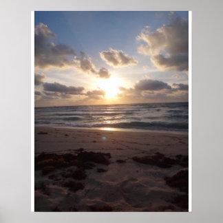 sunrise at Miami Beach Poster