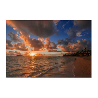 Sunrise At Mokulua Island Acrylic Wall Art