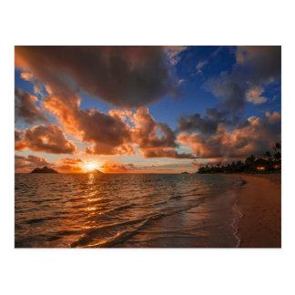 Sunrise At Mokulua Island Postcard