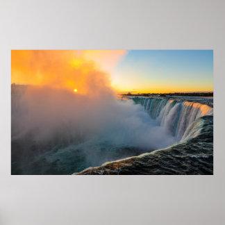 Sunrise at Niagara Falls Poster