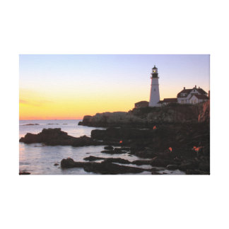 Sunrise at Portland Head Lighthouse, Maine Canvas Print
