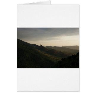 Sunrise at Red Rocks Colorado Card