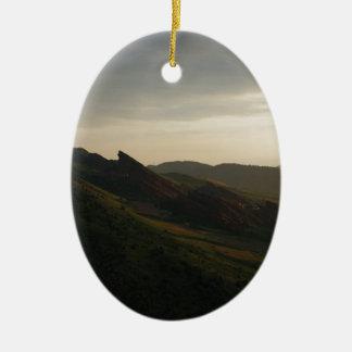 Sunrise at Red Rocks Colorado Ceramic Ornament