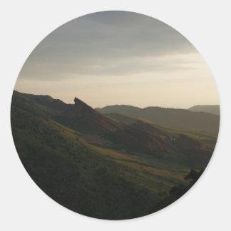Sunrise at Red Rocks Colorado Classic Round Sticker