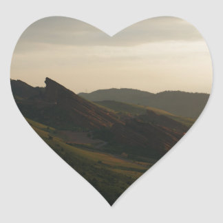 Sunrise at Red Rocks Colorado Heart Sticker