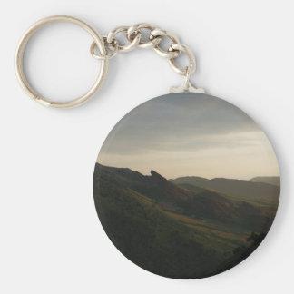 Sunrise at Red Rocks Colorado Keychain