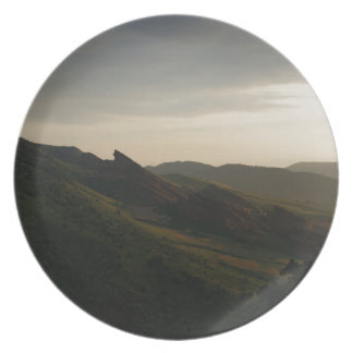 Sunrise at Red Rocks Colorado Melamine Plate