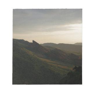 Sunrise at Red Rocks Colorado Notepad