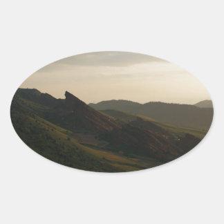 Sunrise at Red Rocks Colorado Oval Sticker