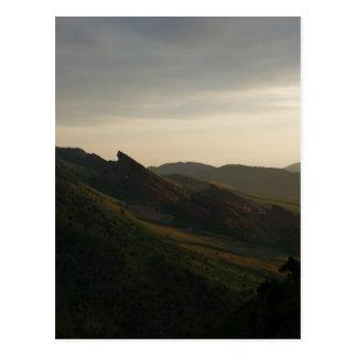 Sunrise at Red Rocks Colorado Postcard