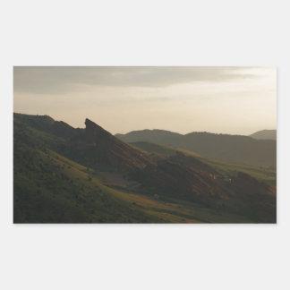 Sunrise at Red Rocks Colorado Rectangular Sticker