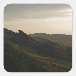 Sunrise at Red Rocks Colorado Square Sticker