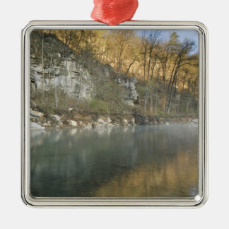 Sunrise at Roark Bluff, Steel Creek access, Metal Ornament