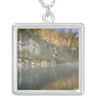 Sunrise at Roark Bluff, Steel Creek access, Silver Plated Necklace