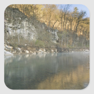 Sunrise at Roark Bluff, Steel Creek access, Square Sticker