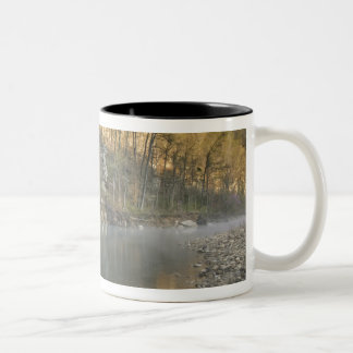 Sunrise at Roark Bluff, Steel Creek access, Two-Tone Coffee Mug