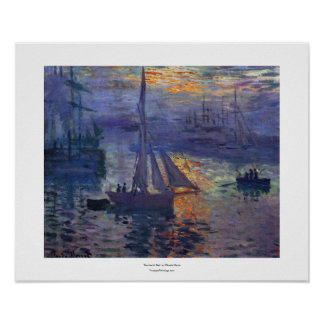 Sunrise at sea by Claude Monet impressionist art Poster