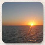 Sunrise at Sea Cork Coaster Set