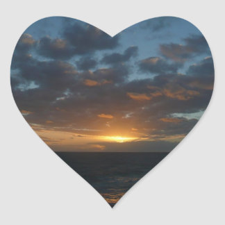 Sunrise at Sea Heart Sticker