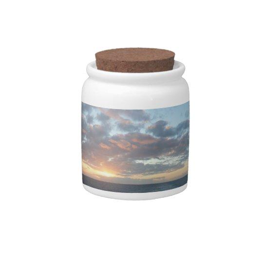 Sunrise at Sea I Pastel Seascape Candy Dish