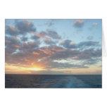 Sunrise at Sea I Pastel Seascape Card