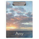 Sunrise at Sea I Pastel Seascape Clipboard