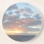 Sunrise at Sea I Pastel Seascape Drink Coaster
