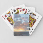 Sunrise at Sea I Pastel Seascape Playing Cards