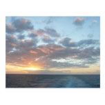 Sunrise at Sea I Pastel Seascape Postcard