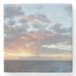 Sunrise at Sea I Pastel Seascape Stone Coaster