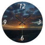 Sunrise at Sea II Beautiful Seascape Clocks