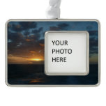 Sunrise at Sea II Ocean Seascape Photography Christmas Ornament