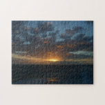 Sunrise at Sea II Ocean Seascape Photography Jigsaw Puzzle