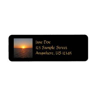 Sunrise at Sea III Ocean Horizon Seascape Label
