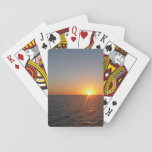 Sunrise at Sea III Ocean Horizon Seascape Playing Cards