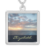 Sunrise at Sea Personalized Necklace