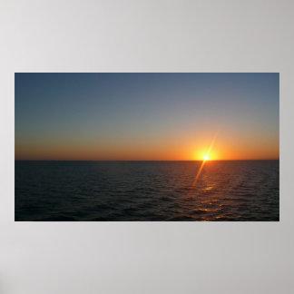 Sunrise at Sea Print