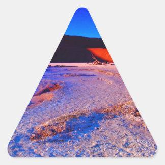 SUNRISE AT SOSSUSVLEI 01.jpg Triangle Sticker