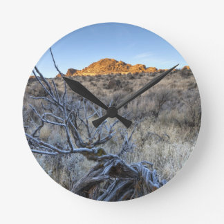 Sunrise at Squaw Creek, Owyhee County, ID Round Clock