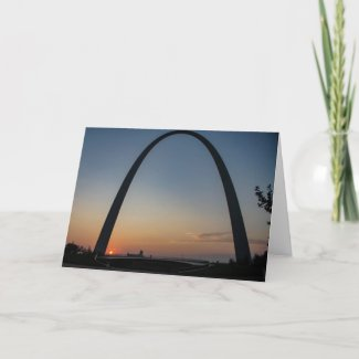 Sunrise at the Arch Card