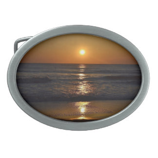 Sunrise at the Beach by Shirley Taylor Oval Belt Buckle