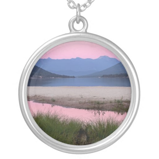 Sunrise at the Beach Landscape Custom Necklace