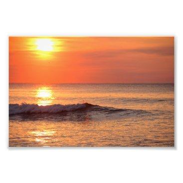 Beach Themed Sunrise at the Beach Photo Print