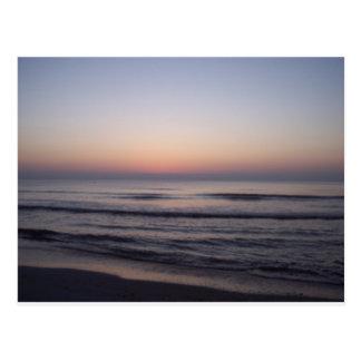 Sunrise at the beach postcard