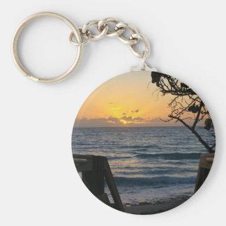 Sunrise at the Boardwalk Keychain