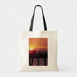 Sunrise at the fishing pier, Dania Budget Tote Bag