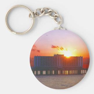 Sunrise At The Flagship Hotel Keychains