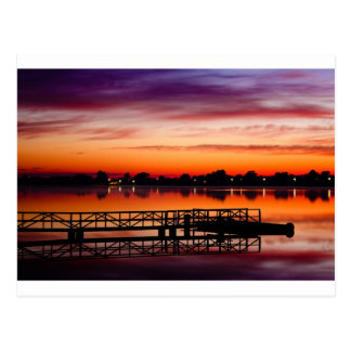 Sunrise at the jetty postcard